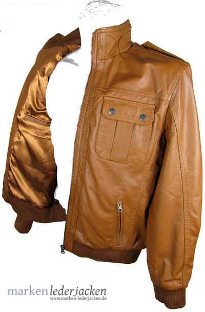 bruno banani herren lederjacke lederblouson 3271 nappaleder cognac neu ebay. Black Bedroom Furniture Sets. Home Design Ideas