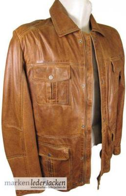 strokesman 39 s herren lederjacke 4354 echtleder jacke lammnappa cognac vintage neu ebay. Black Bedroom Furniture Sets. Home Design Ideas
