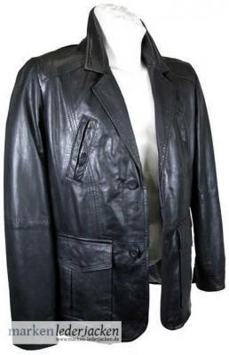 herren lederjacke blazer 4870 echtes leder jacke lammnappa schwarz neu ebay. Black Bedroom Furniture Sets. Home Design Ideas