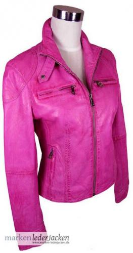 jilani damen lederjacke 4803 echtleder jacke lammnappa fuchsia pink neu ebay. Black Bedroom Furniture Sets. Home Design Ideas