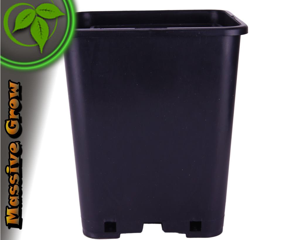 topf viereckig 6l 10 st ck blumentopf 6 liter blumenk bel topf tekutopf ebay. Black Bedroom Furniture Sets. Home Design Ideas