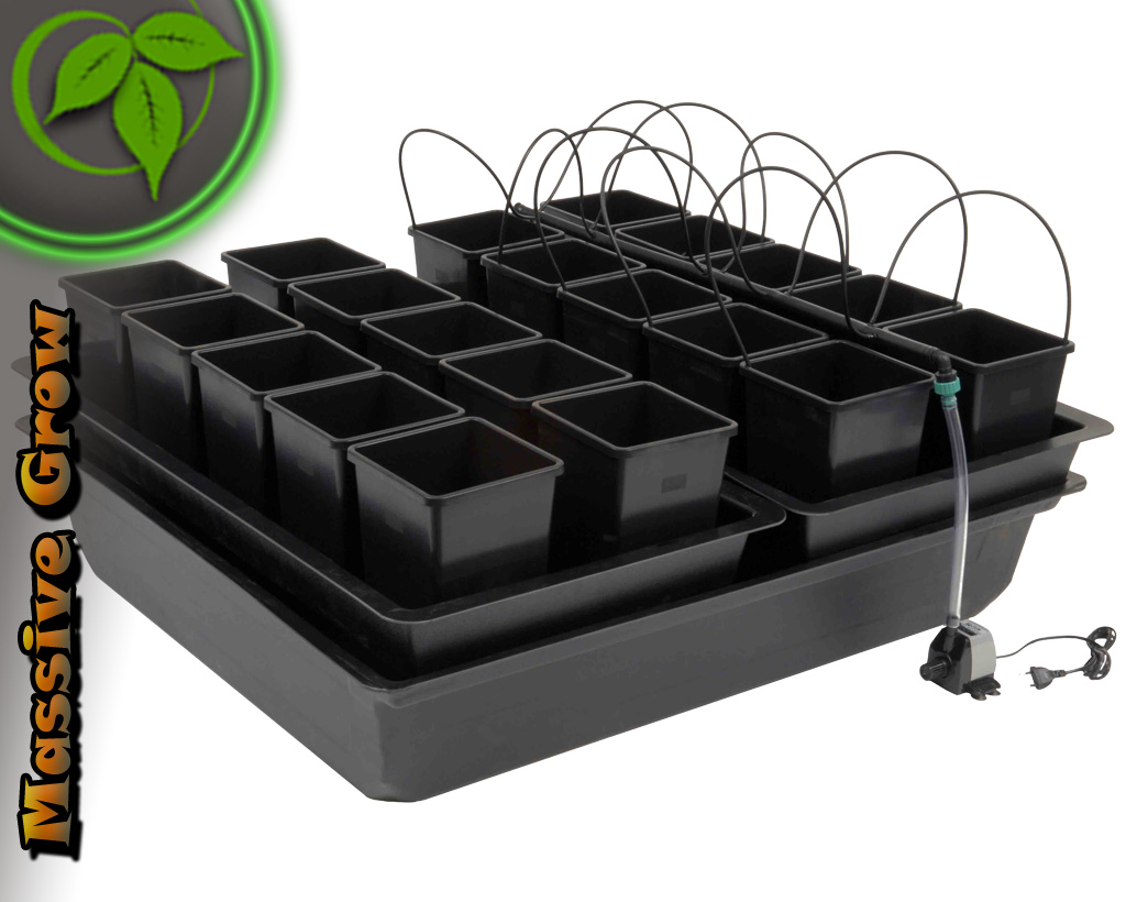 atami wilma system f r 20 pflanzen bew sserungssystem grow hydrosystem hydro ebay. Black Bedroom Furniture Sets. Home Design Ideas