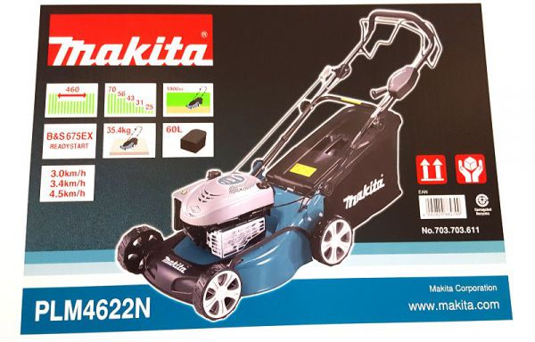 makita plm4622 benzin rasenm her 46cm selbstfahrend nachf v plm4621 mulcher ebay. Black Bedroom Furniture Sets. Home Design Ideas