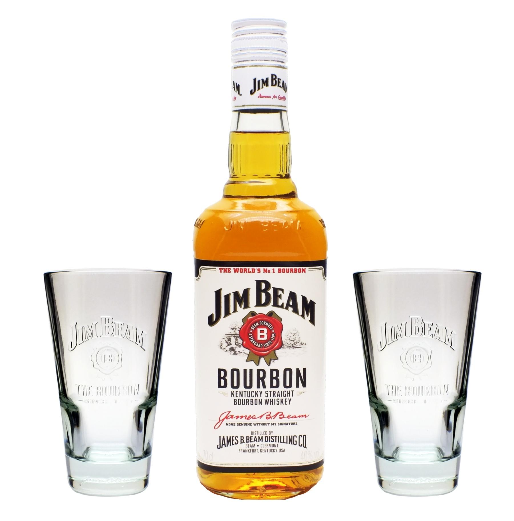 jim beam bourbon whiskey 40 0 7l 2 longdrink gl ser ebay. Black Bedroom Furniture Sets. Home Design Ideas