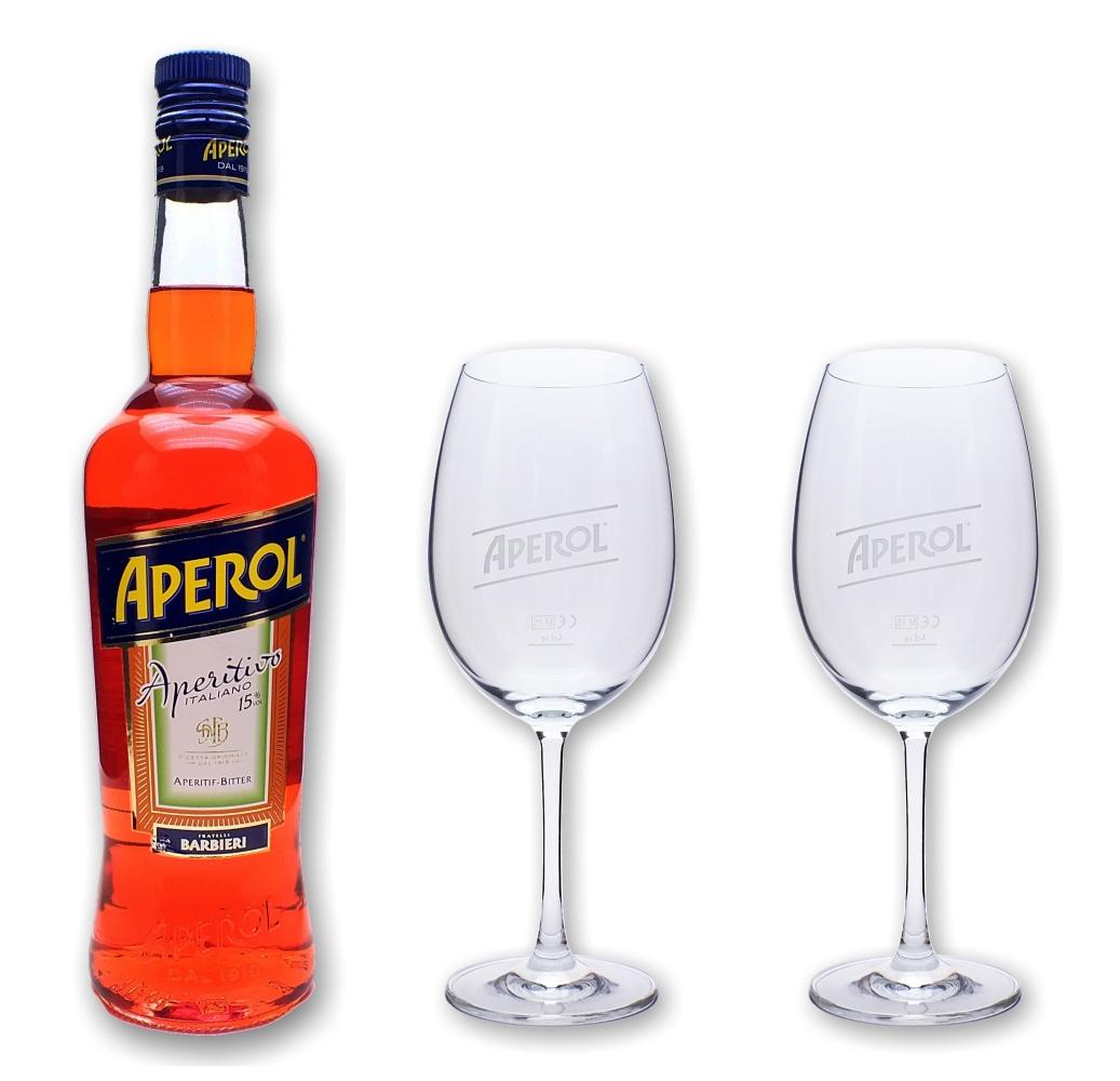 aperol aperitivo 15 0 7l 2 stiel gl ser set spritz. Black Bedroom Furniture Sets. Home Design Ideas