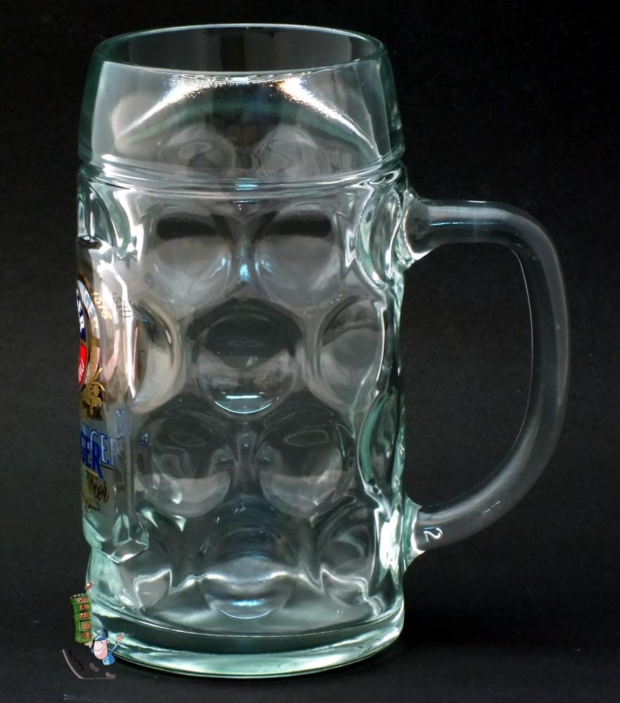 6 erdinger glaskr ge 0 5 liter humpen beer jug bierkrug geeicht gl ser. Black Bedroom Furniture Sets. Home Design Ideas