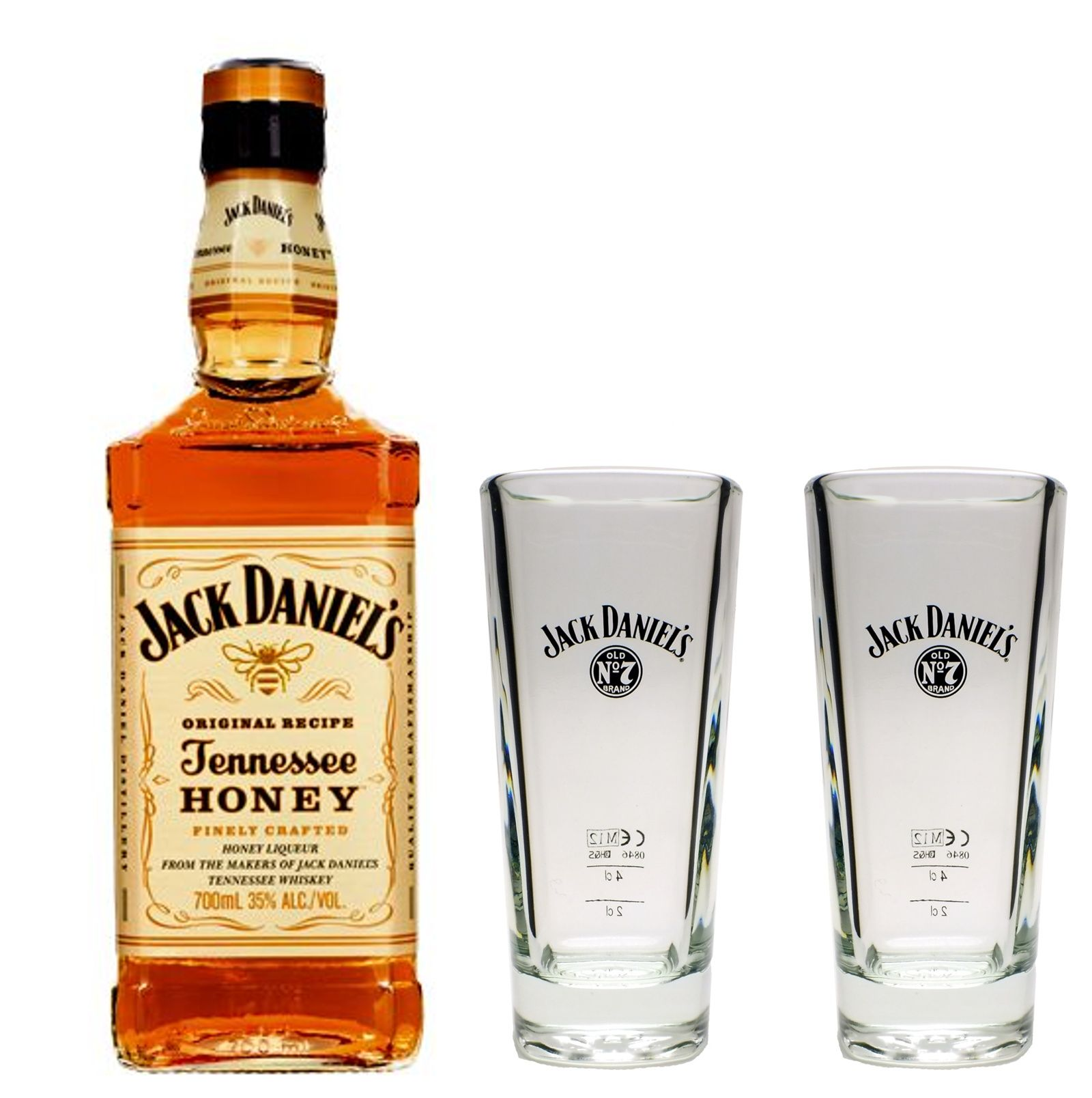 jack daniels honey whiskey 35 0 7l 2 longdrink gl ser glas whisky set ebay. Black Bedroom Furniture Sets. Home Design Ideas