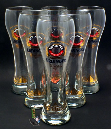 6 erdinger weissbier gl ser 0 5l exklusiv weizenbier biergl ser beer glass ebay. Black Bedroom Furniture Sets. Home Design Ideas