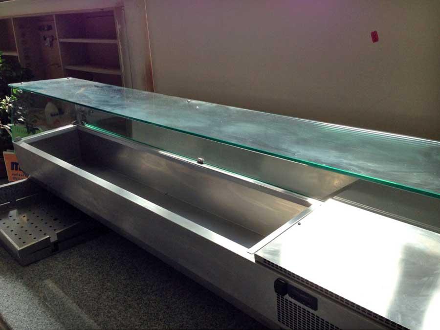 Gartenmobel Abdeckhauben Tchibo :  Pizzavorbereitungstisch gebraucht mit Aufsatzvitrine für Gastronomie