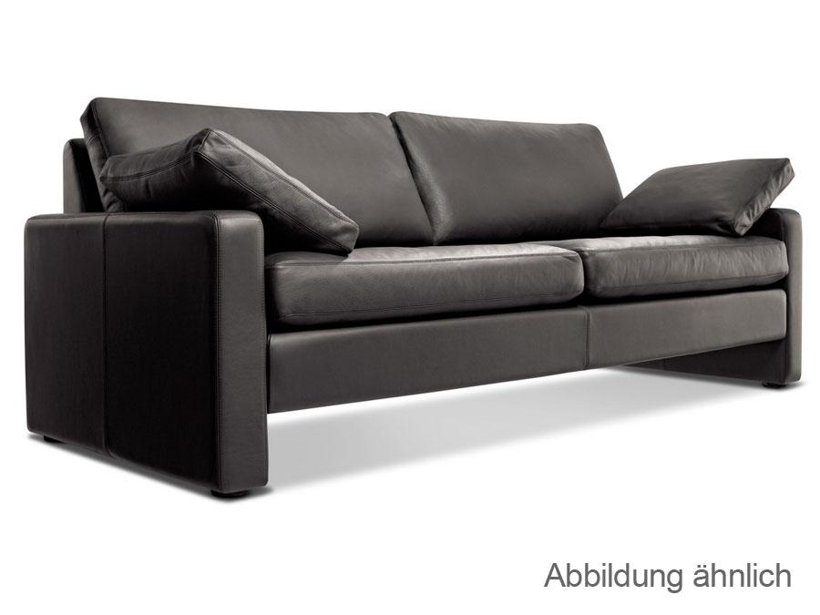 cor conseta couch 2 sitzer echtleder sofa schwarz modell 40280 neu ebay. Black Bedroom Furniture Sets. Home Design Ideas