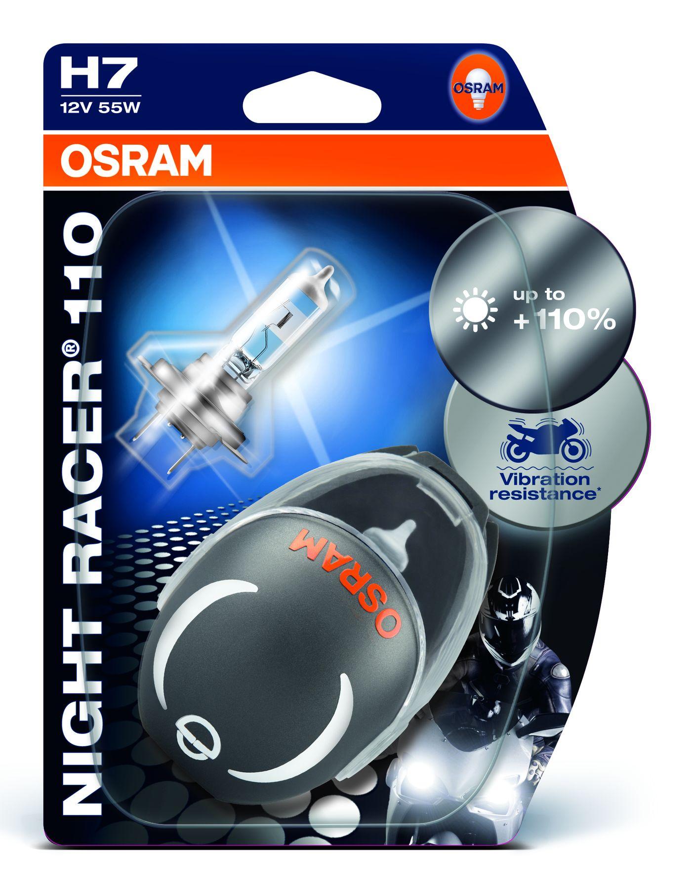 H7 night racer 110 motorrad lampen 12 volt 55 watt px26d for Lampen 34 volt 3 watt