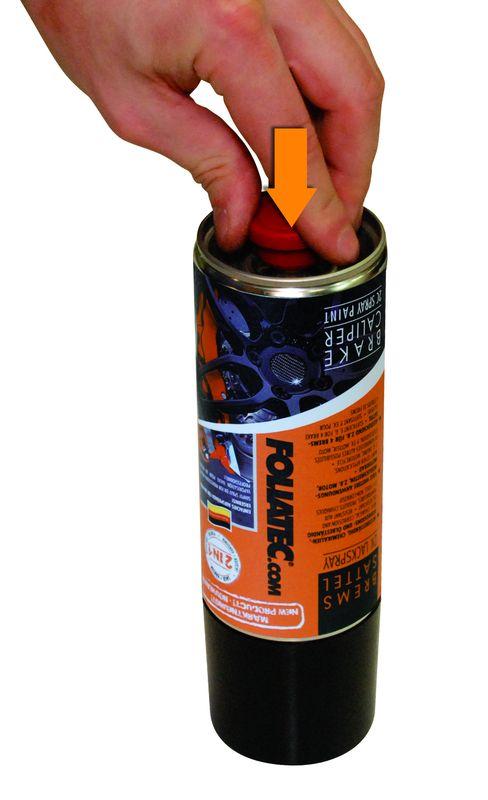 foliatec bremssattel lack 2k lackspray schwarz mit tesa. Black Bedroom Furniture Sets. Home Design Ideas