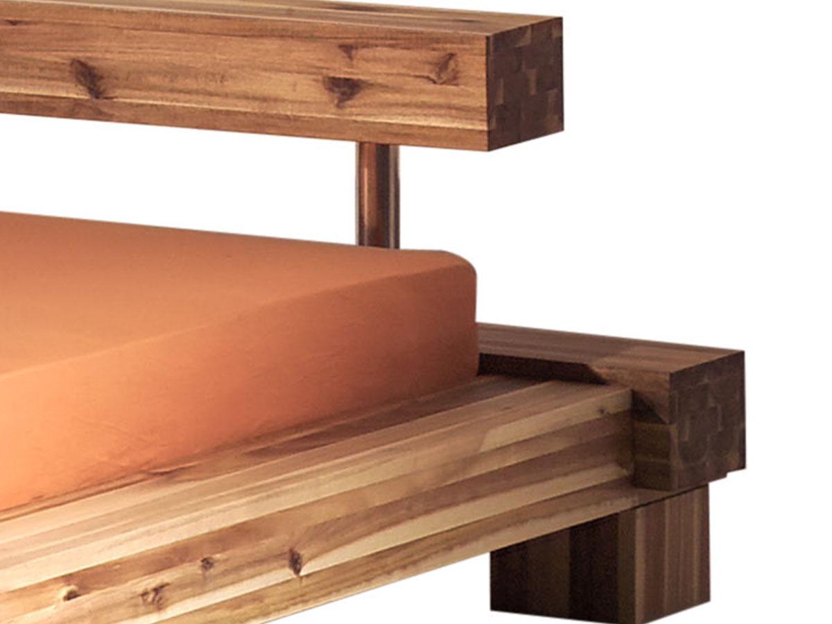 massivholzbett doppelbett holzbett bett balkenbett akazie 180x200 cm sabatino ebay. Black Bedroom Furniture Sets. Home Design Ideas