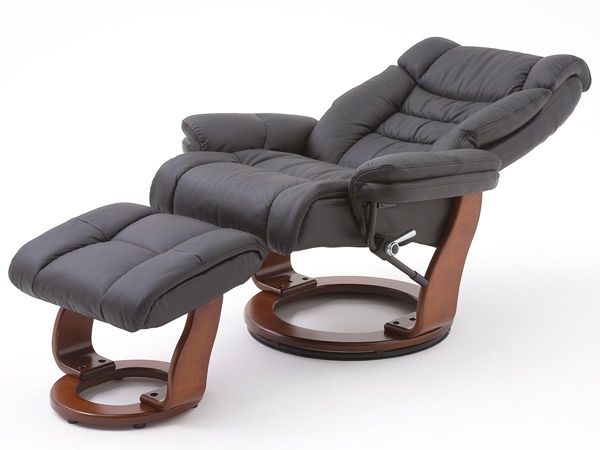 relaxsessel mit hocker fernsehsessel lesesessel sessel leder toronto ebay. Black Bedroom Furniture Sets. Home Design Ideas