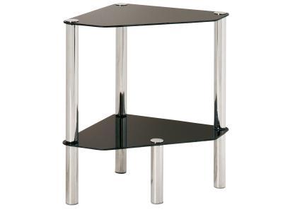 Eck beistelltisch glas tisch telefontisch dielentisch for Beistelltisch glas schwarz