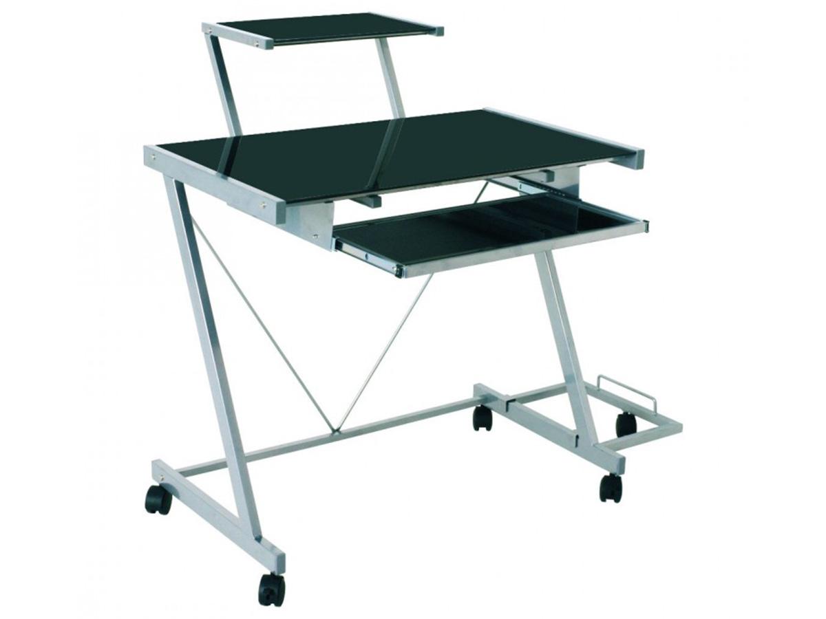 computerwagen computertisch pc tisch rollen glas tisch. Black Bedroom Furniture Sets. Home Design Ideas