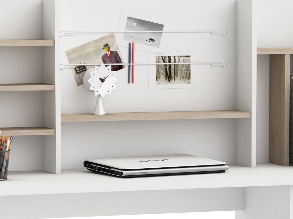 Eckschreibtisch weiß mit aufsatz  Schreibtisch mit Aufsatz Bürotisch Arbeitstisch Computertisch in ...