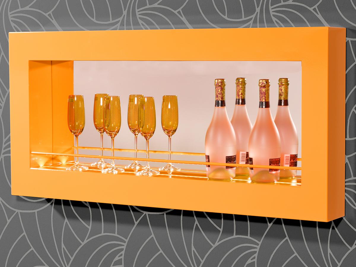 wandbar minibar barregal flaschenhalter bar regal funny i m led beleuchtung ebay. Black Bedroom Furniture Sets. Home Design Ideas