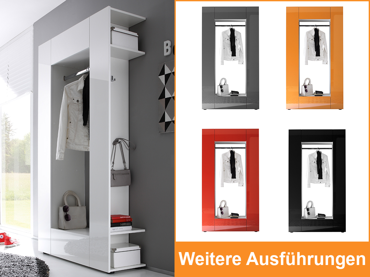 garderobe dielenschrank schrank flurgarderobe kompaktgarderobe diele olli i. Black Bedroom Furniture Sets. Home Design Ideas