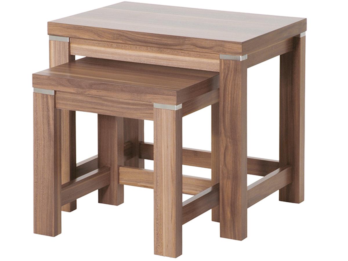 beistelltisch couchtisch tisch nachttisch 2 satz nussbaum kernbuche nb saskia ebay. Black Bedroom Furniture Sets. Home Design Ideas