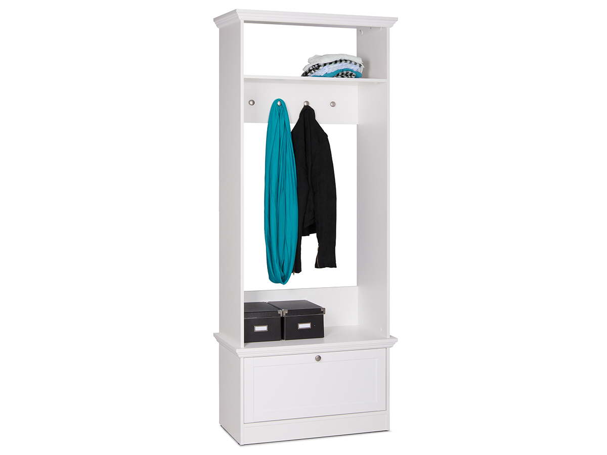 garderobe mit sitzbank wandgarderobe flurgarderobe bank. Black Bedroom Furniture Sets. Home Design Ideas