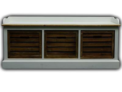 kommodenbank sitzbank kommode bank dielenbank antik wei. Black Bedroom Furniture Sets. Home Design Ideas