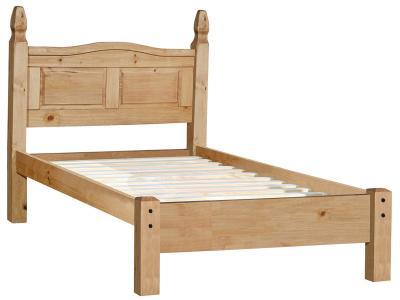 bett einzelbett 90x200 holz mexiko stil pinie massiv honig. Black Bedroom Furniture Sets. Home Design Ideas