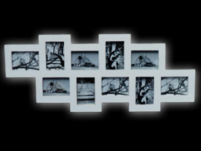 bilderrahmen zusammenh ngend fotorahmen f r 10 bilder barock wei amore2 ebay. Black Bedroom Furniture Sets. Home Design Ideas