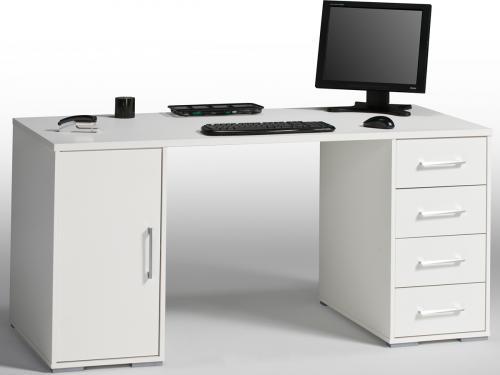 Computertisch weiß  Schreibtisch Computertisch Bürotisch Tisch Weiß 150x70,5 cm ...