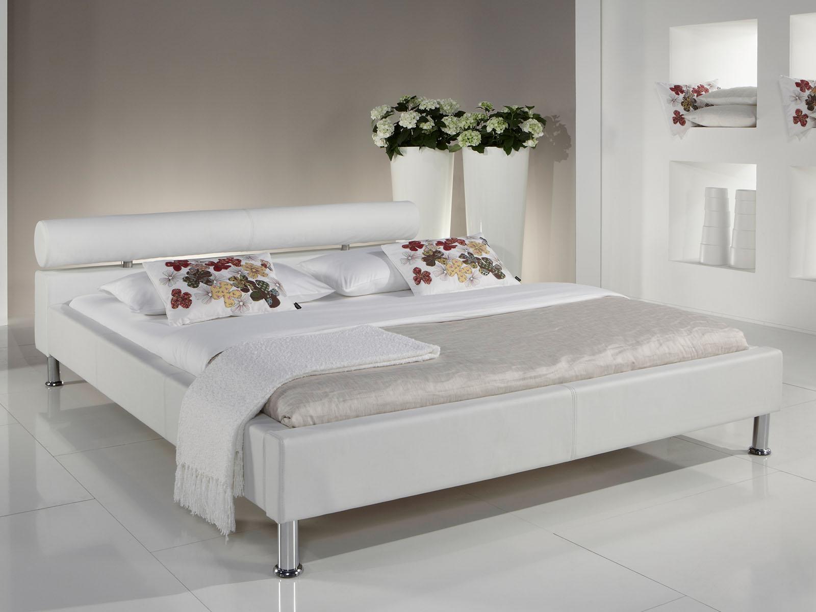 polsterbett einzelbett jugendbett doppelbett bett arno i wei 100x200 cm ebay. Black Bedroom Furniture Sets. Home Design Ideas