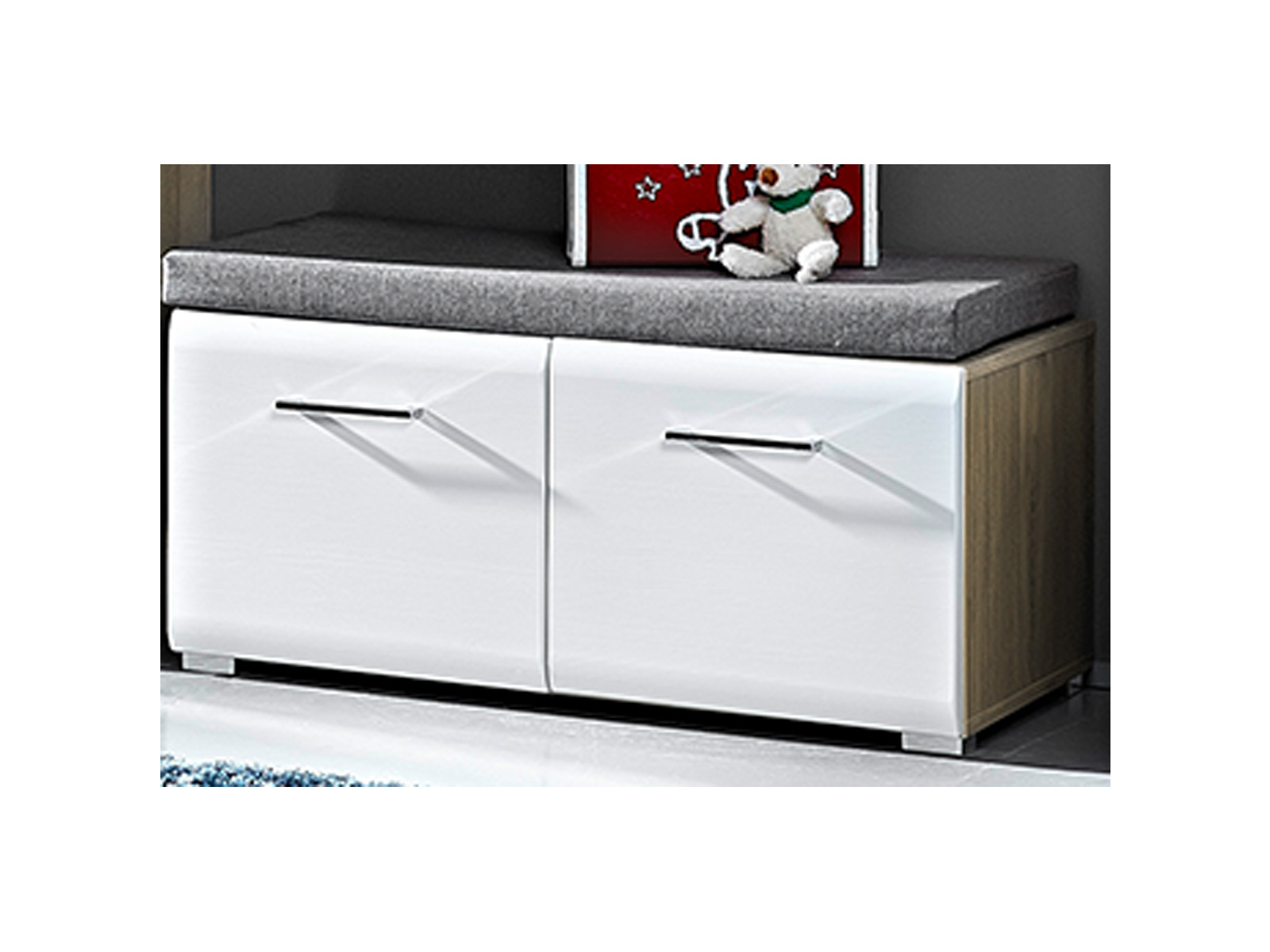 garderobe flurgarderobe komplett garderobe garderobenset diele m bel allison i ebay. Black Bedroom Furniture Sets. Home Design Ideas