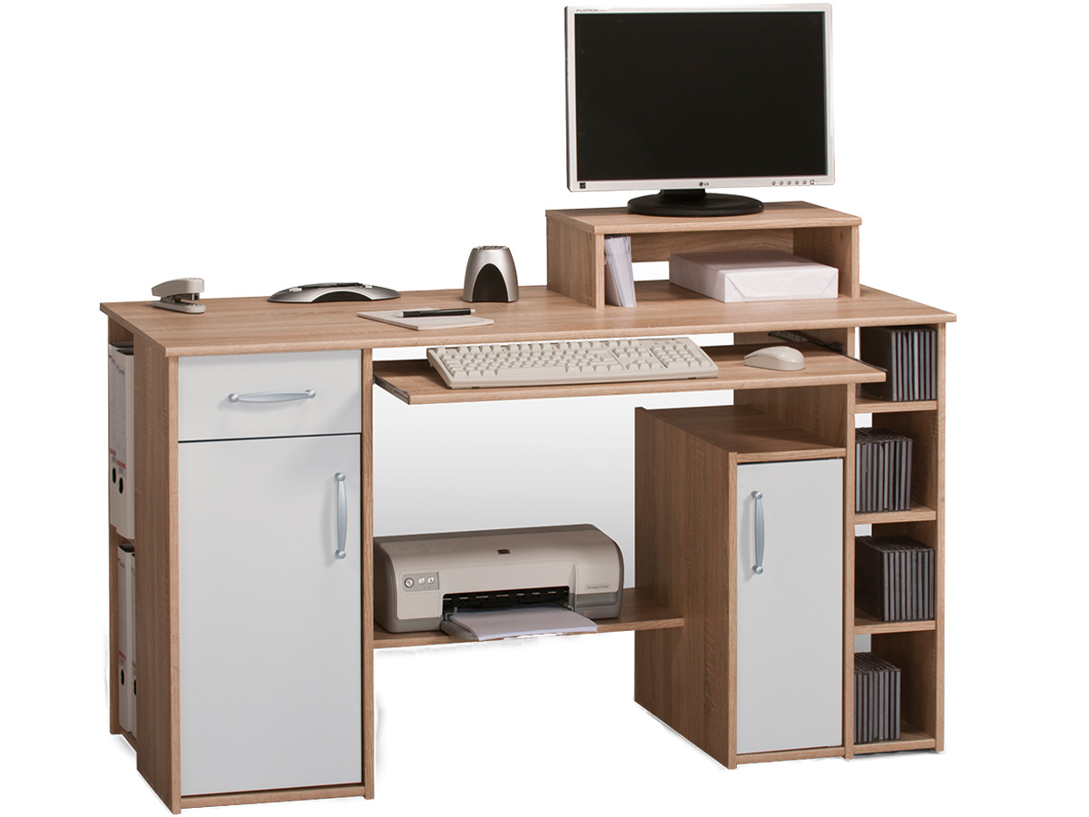 schreibtisch computertisch tisch workstation pc tisch. Black Bedroom Furniture Sets. Home Design Ideas