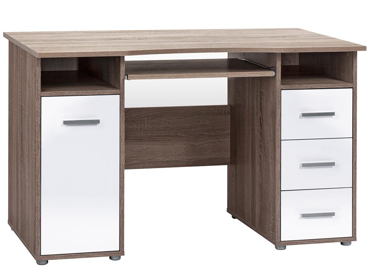 Schreibtisch computertisch tisch workstation pc tisch for Schreibtisch kernbuche nachbildung