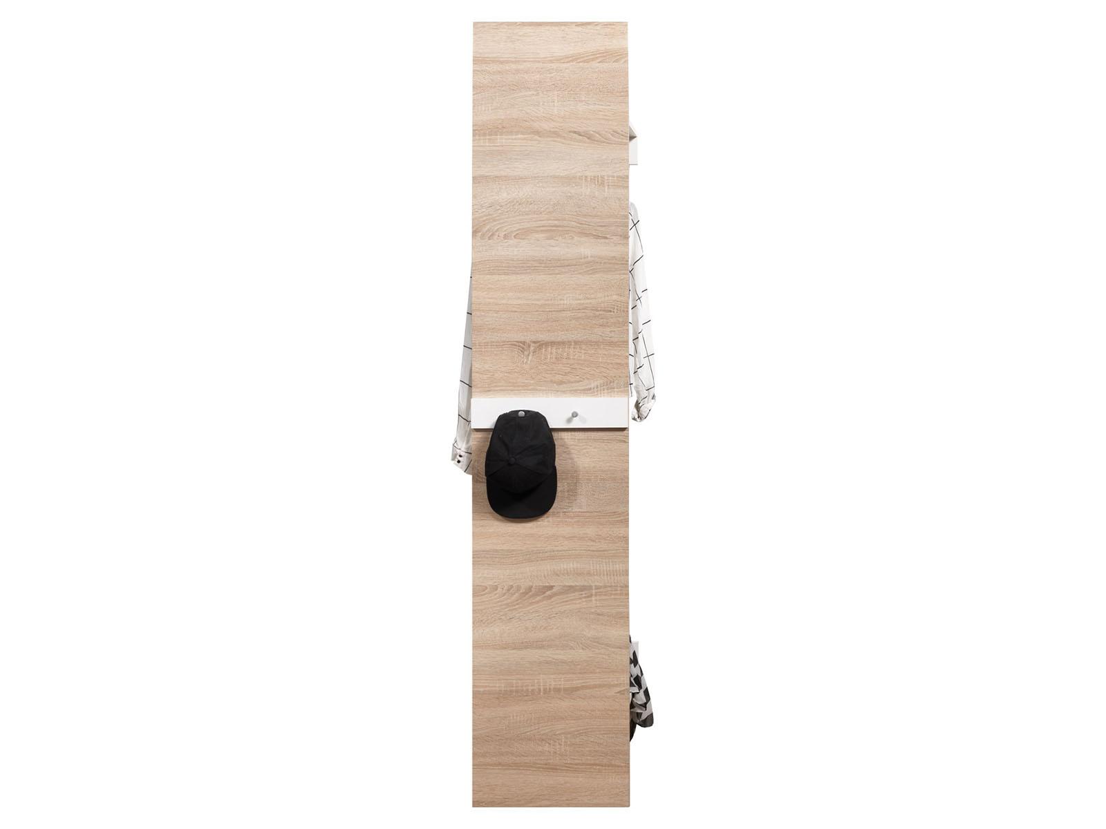 garderobe flurgarderobe komplett set h ngegarderobe othilie i wei eiche ebay. Black Bedroom Furniture Sets. Home Design Ideas