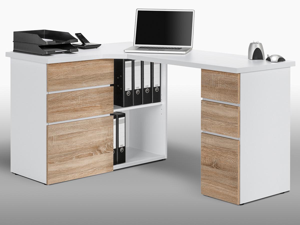 Pc Tisch Weiß Ikea ~  Computertisch Eck Schreibtisch PC Tisch Bürotisch Tisch Jad