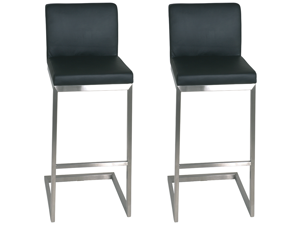 2x barhocker set barstuhl thekenstuhl stuhl lounge for Barhocker leder