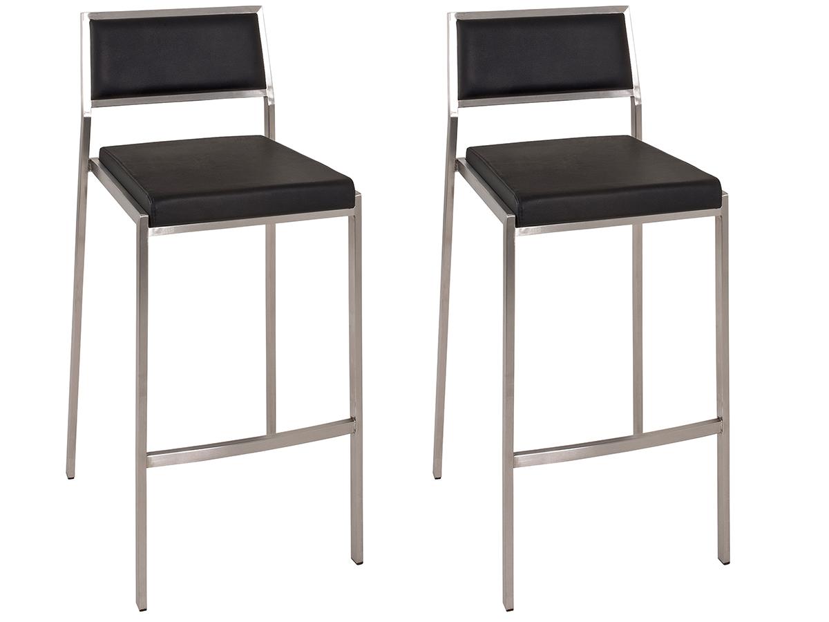 2x barhocker set barstuhl thekenstuhl lounge stuhl for Barhocker edelstahl echtleder