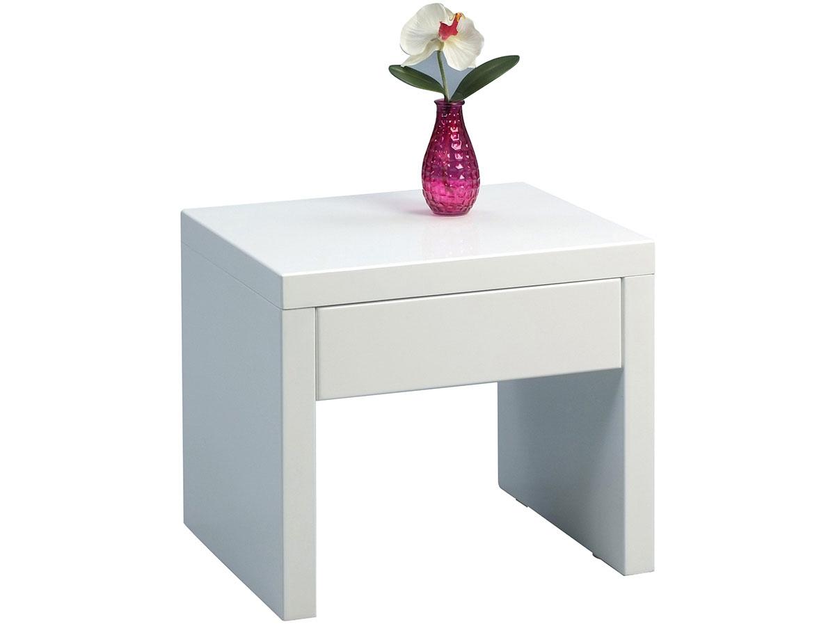 beistelltisch tisch ablagetisch nachttisch couchttisch wei hochglanz ute ebay. Black Bedroom Furniture Sets. Home Design Ideas