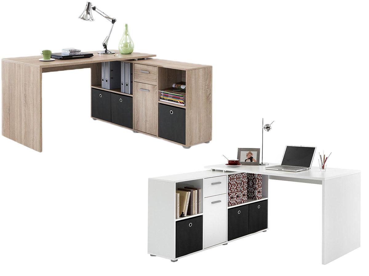 Eckschreibtisch büro  Eckschreibtisch Winkelkombination Schreibtisch Bürotisch Minibüro ...