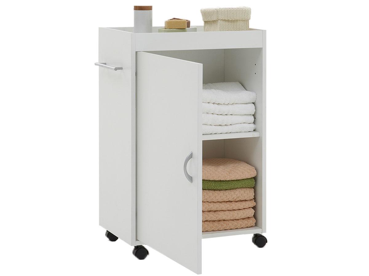 badezimmerschrank beistellwagen rollwagen kommode badschrank schrank wei luci ebay. Black Bedroom Furniture Sets. Home Design Ideas