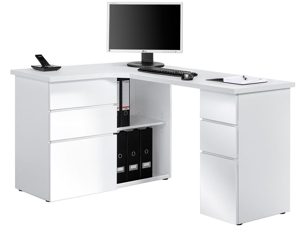 eck computertisch wei. Black Bedroom Furniture Sets. Home Design Ideas