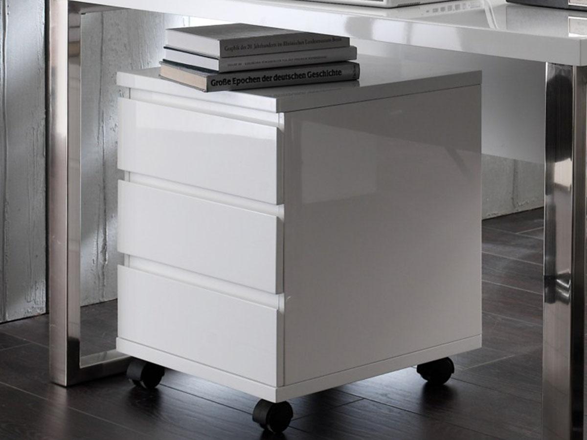 rollcontainer b rocontainer container 3 schubladen wei hochglanz b ro cosio ebay. Black Bedroom Furniture Sets. Home Design Ideas