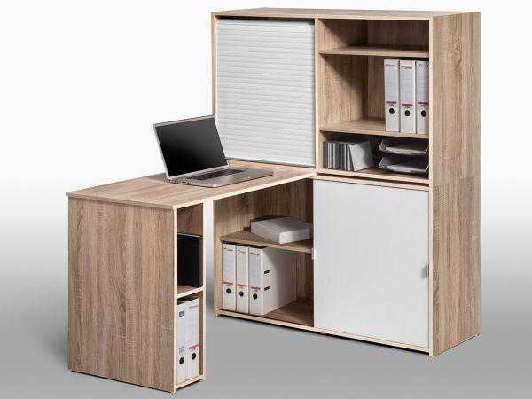 schreibtischkombination b rokombination schreibtisch mini b ro office lutz ebay. Black Bedroom Furniture Sets. Home Design Ideas