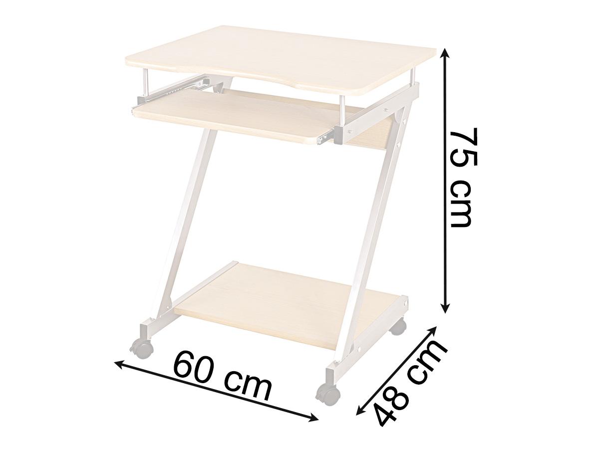 computerwagen computertisch pc tisch rollen tisch buche nachbildung ulf. Black Bedroom Furniture Sets. Home Design Ideas