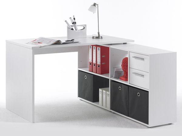 Eckschreibtisch Schreibtisch Winkelschreibtisch Arbeitstisch Weiß