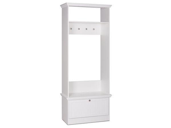 garderobe mit sitzbank wandgarderobe flurgarderobe bank wei landsted i. Black Bedroom Furniture Sets. Home Design Ideas