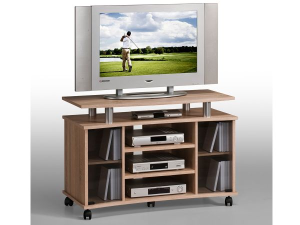 tv wagen fernsehtisch rollwagen tv board hifi unterschrank sideboard holz lago ebay. Black Bedroom Furniture Sets. Home Design Ideas