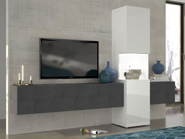 Fernsehschrank zum schließen  Wohnwand Mediawand Wohnzimmerschrank Fernsehschrank TV Schrank ...