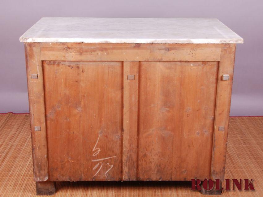 antik kommode waschtisch aus mahagoni mit einer marmorplatte ebay. Black Bedroom Furniture Sets. Home Design Ideas