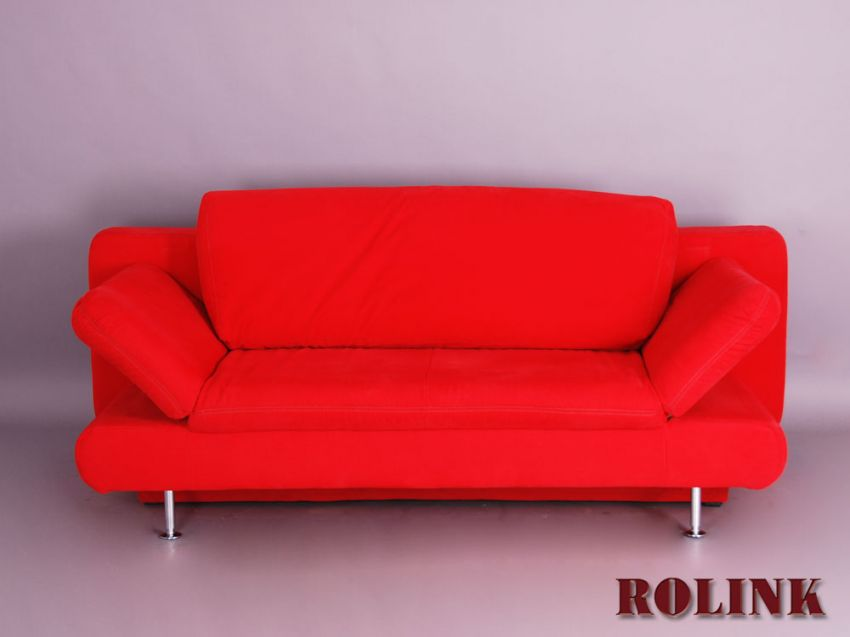 2 sitzer sofa schlafsofa bettcouch bettsofa g stebett klappsofa in rot ebay. Black Bedroom Furniture Sets. Home Design Ideas